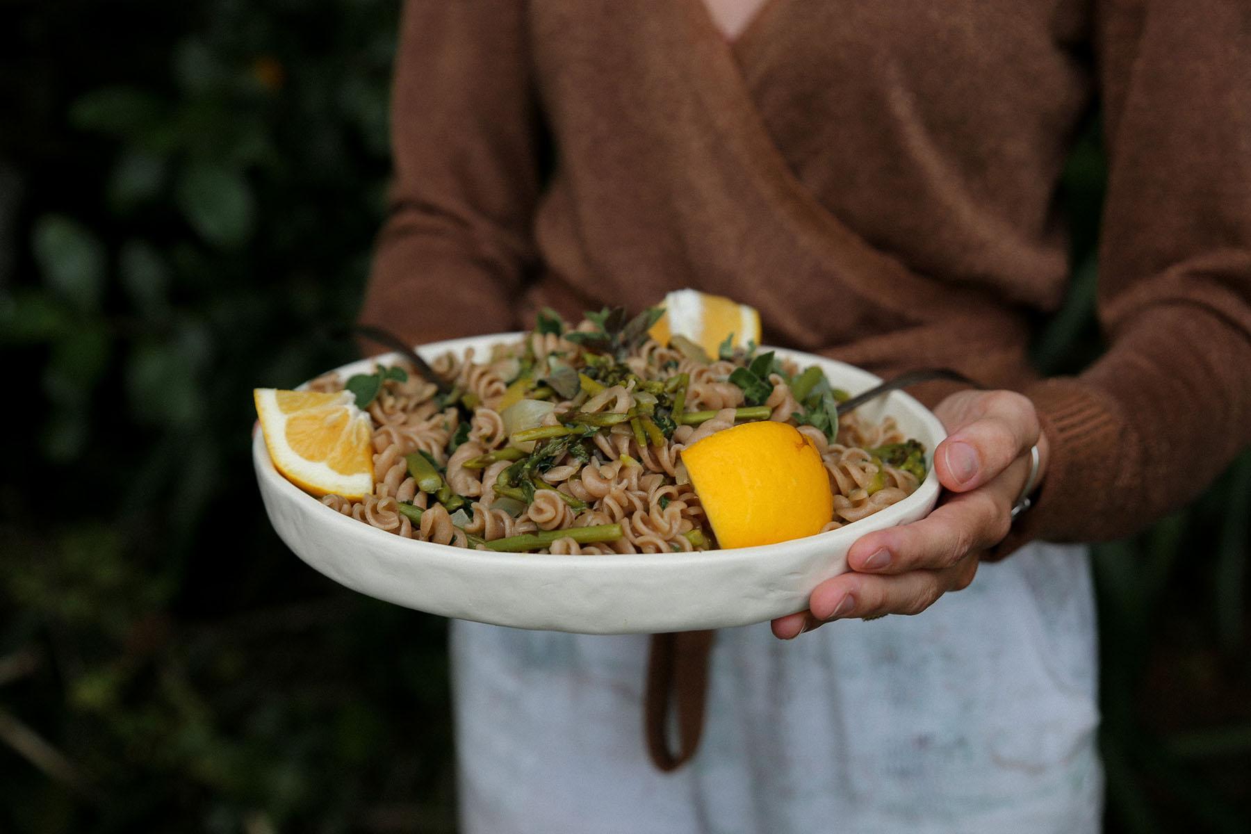 Petite Kitchenu0027s One Pot Pasta With Asparagus, Lemon And Basil Recipe   Viva
