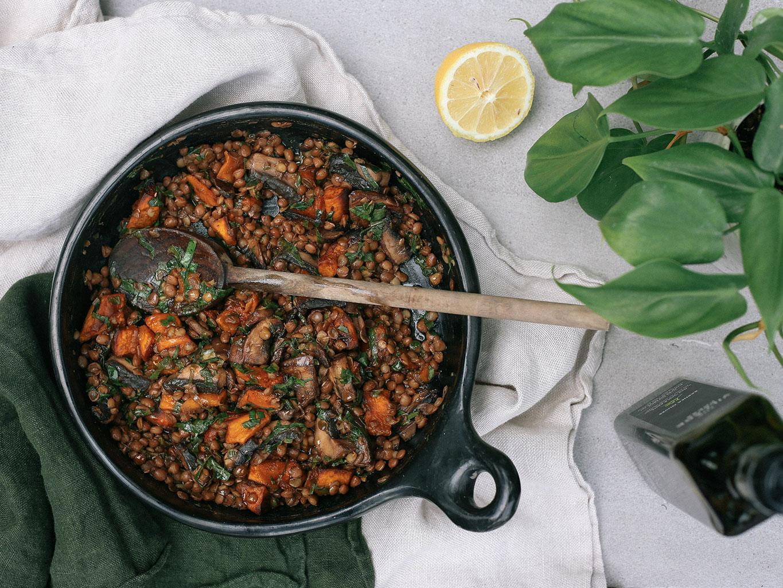 Buttered Balsamic Lentils Recipe   Viva