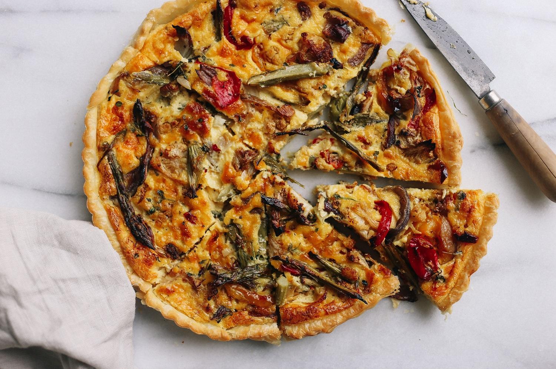 Roasted Vegetable Tart With Crème Fraiche & Thyme - Viva