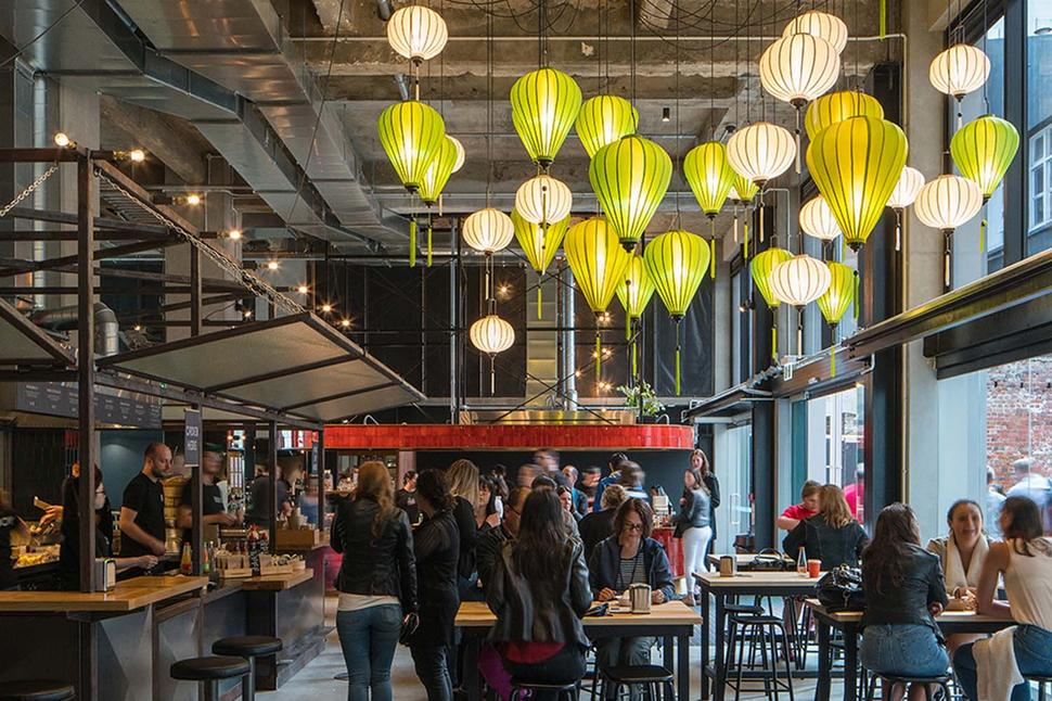 Located In The E Previously Occupied By Evening Post S Printing Presses Press Hall Is Now An Impressive Upmarket Food Picture Supplied