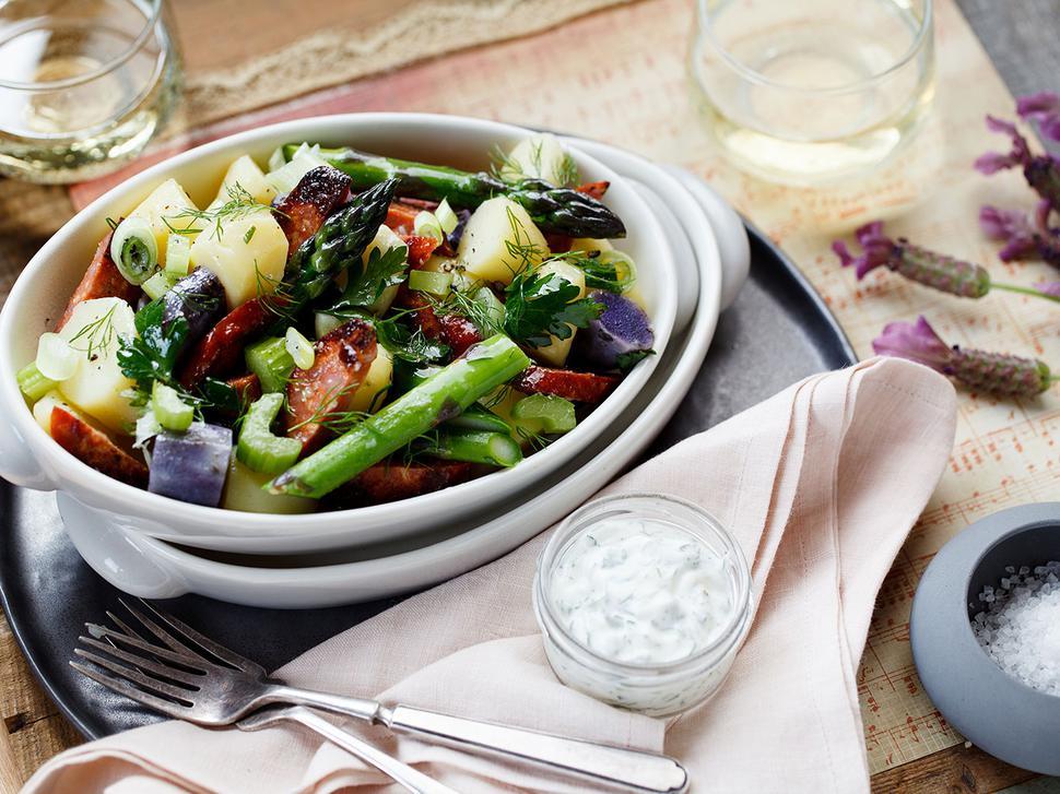 Potato Salad Recipe With Asparagus And Chorizo Viva